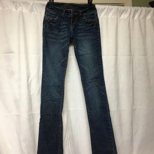 Delia's Morgan Jeans Size 00 S (Short) Dark Blue